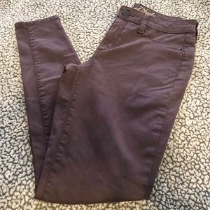 Target's Maroon High Rise Jegging Jeans